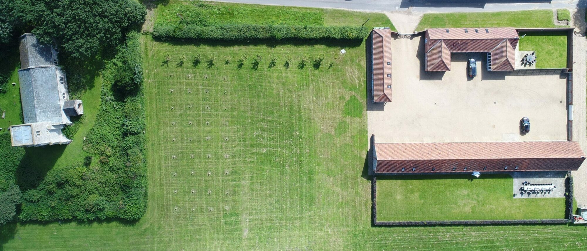 Brazenhall Barns - aerial scaled slider image