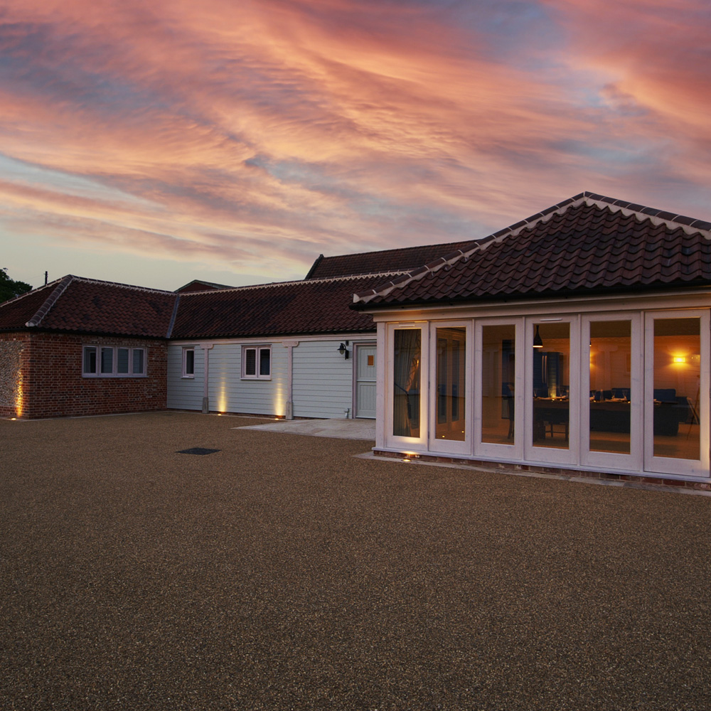 Brazenhall Barns - The Lodge - At Sunset