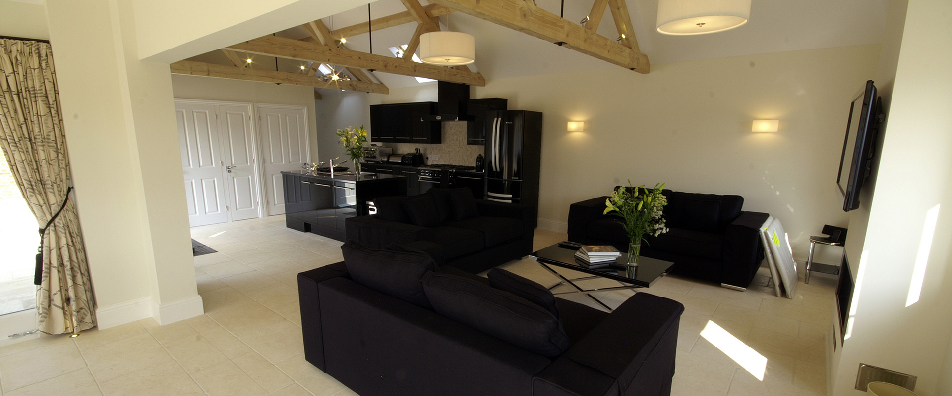 The Lodge - Open Plan Living area